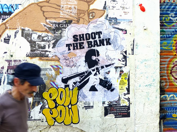 BARCELONA STREET ART SHOOT THE BANK